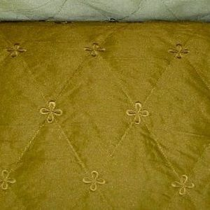 Embroidered Quilted Wayfarer Fabric Toffee